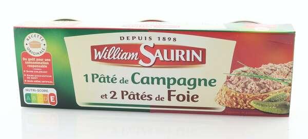 William Saurin Pâté de Foie + Pâté de Campagne 234g